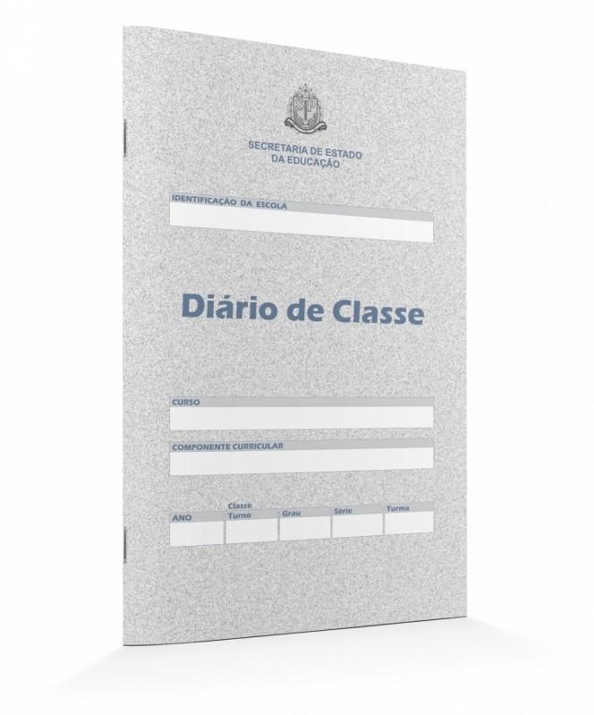 Diários de Classe Mensal Sapopemba - Diário de Classe Azul