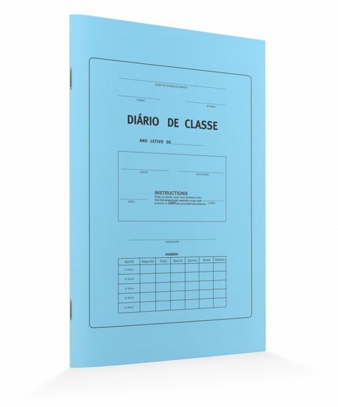 Onde Comprar Diário de Classe Azul São Miguel Paulista - Diário de Classe Azul