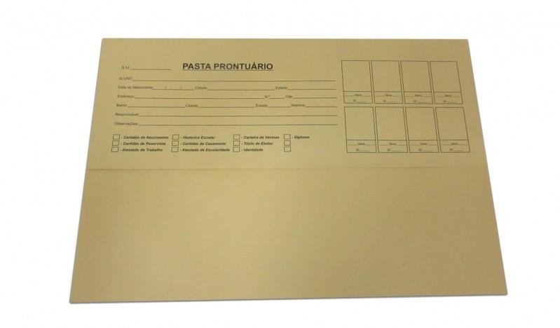 Pasta para Prontuário Escolar Preço Vila Leopoldina - Pasta de Prontuário