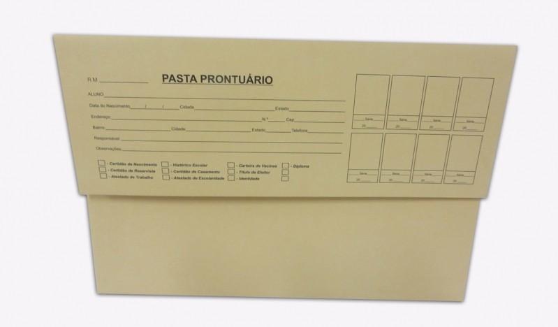 Pasta Prontuário Escolar Preço Vila Sônia - Pasta de Prontuário
