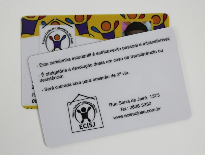 Preço de Carteirinha de Estudante Padrão Vila Curuçá - Carteirinha Escolar em Pvc