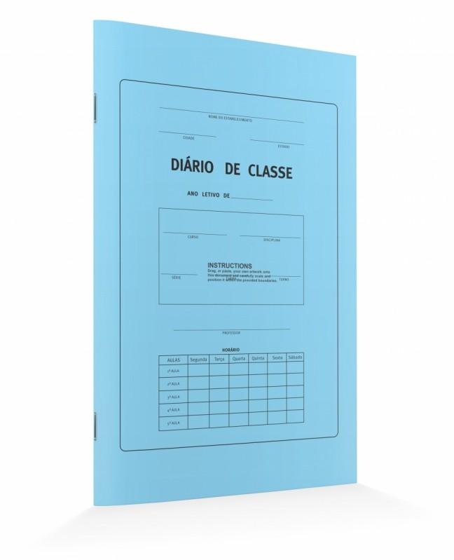 Quanto Custa Diário de Classe Aclimação - Diário de Classe Professor