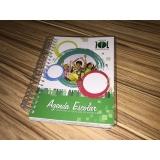 agenda personalizada para escola Santo Amaro
