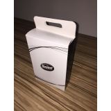 caixa personalizada de papel Água Branca