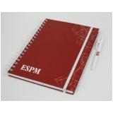 comprar agenda capa dura personalizada Santa Efigênia
