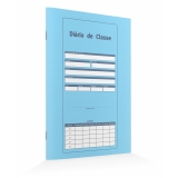 diário de classe mensal preço Vila Mariana