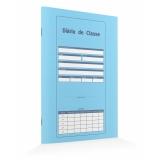 diários de classe azul Perus
