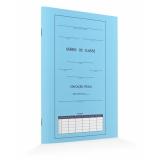 diário de classe azul