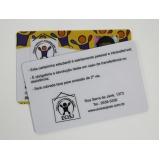 preço de carteirinha escolar em pvc Belenzinho