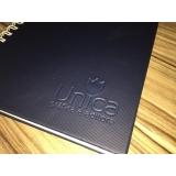 quanto custa caderno personalizado empresarial Jaraguá